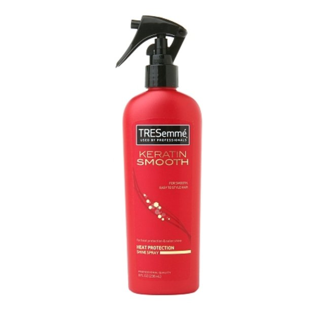 tresemme heat protection shine spray review